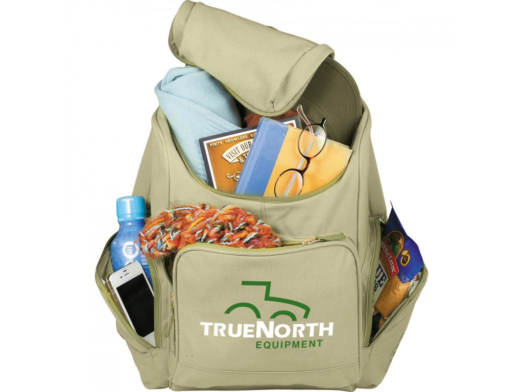 3008-08 Trash Talking Recycled Backpack Leed's Promotional ...