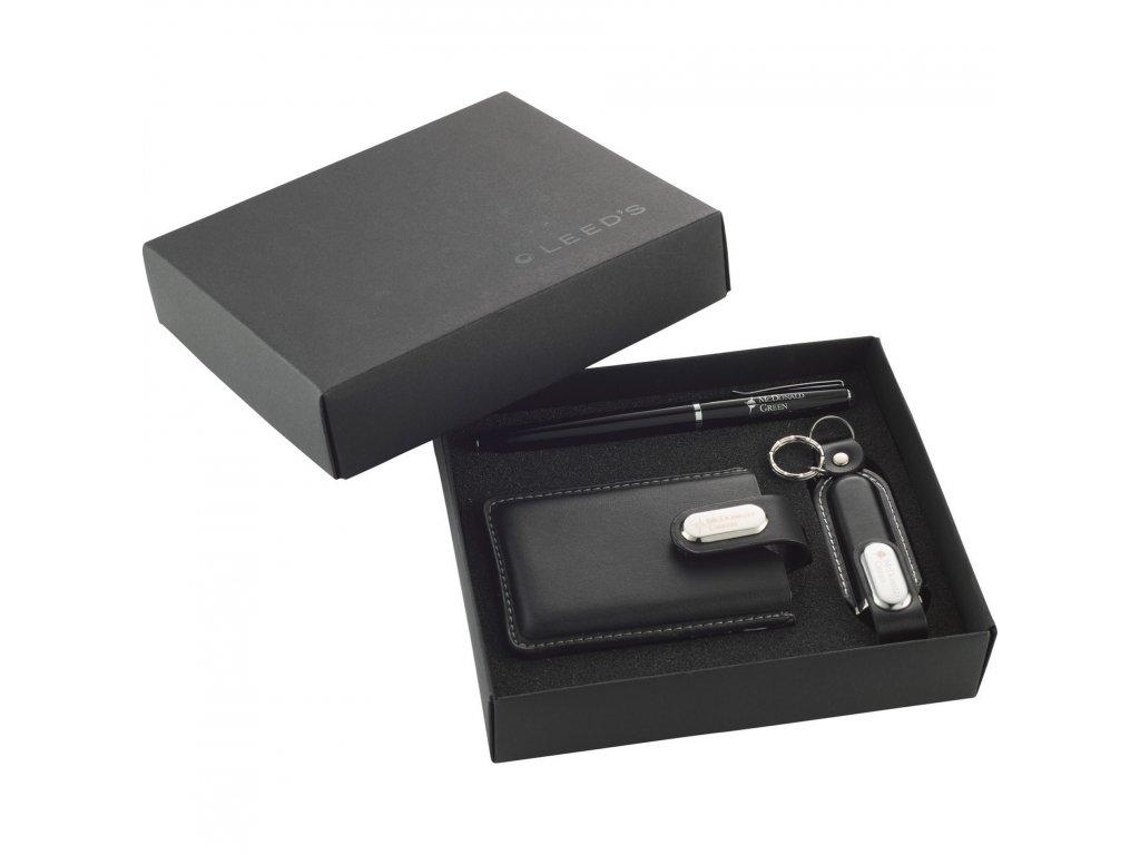 1300 50 executive usb flash drive gift set 1gb leed s. Black Bedroom Furniture Sets. Home Design Ideas