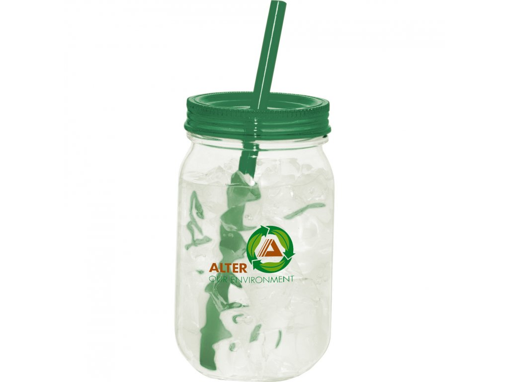 1624-12 Game Day Mason Jar 25oz Leed's Promotional Products