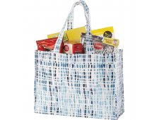 Cross Hatch Laminated Shopper Tote