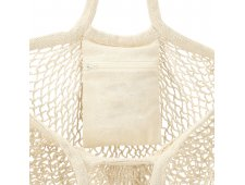 Riviera Cotton Mesh Market Bag w/Zippered Pouch